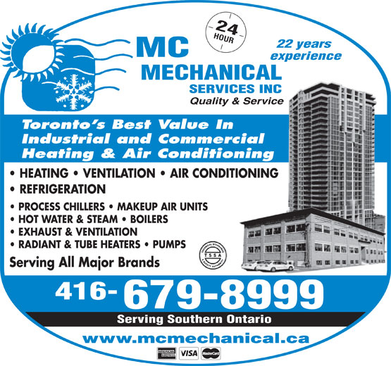 HEATING, AIR CONDITIONING AND REFRIGERATION SERVICES IN