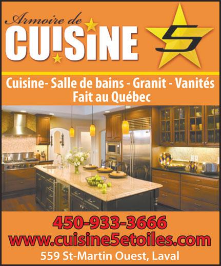 Armoire de cuisine 5 toiles in laval quebec 450 933 for Armoire de cuisine usage
