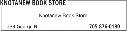 Knotanew Book Store (705-876-0190) - Display Ad - Knotanew Book Store Knotanew Book Store