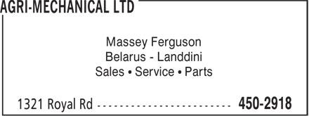 Agri-Mechanical Ltd (506-450-2918) - Display Ad - Belarus - Landdini Sales • Service • Parts Massey Ferguson