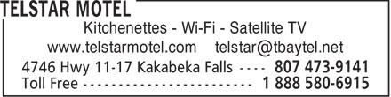 Telstar Motel (807-473-9141) - Display Ad -