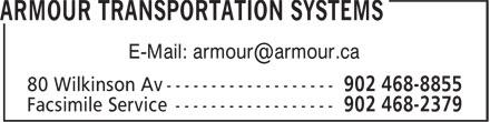 Armour Transportation Systems (902-468-8855) - Display Ad - E-Mail: armour@armour.ca