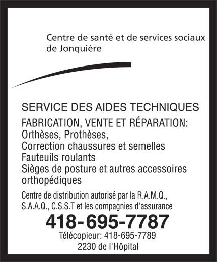 Centre de Santé et des Services Sociaux de Jonquière (418-695-7787) - Annonce illustrée======= - de Jonquière Centre de santé et de services sociaux 418-