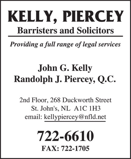 Kelly Piercey (709-722-6610) - Annonce illustrée======= -