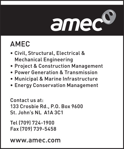 Amec Foster Wheeler (709-724-1900) - Display Ad -