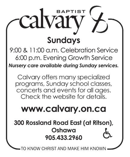 Calvary Baptist Church (905-433-2960) - Display Ad -