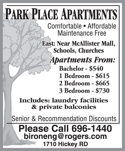 Apartment Ad: Park Place Apartments