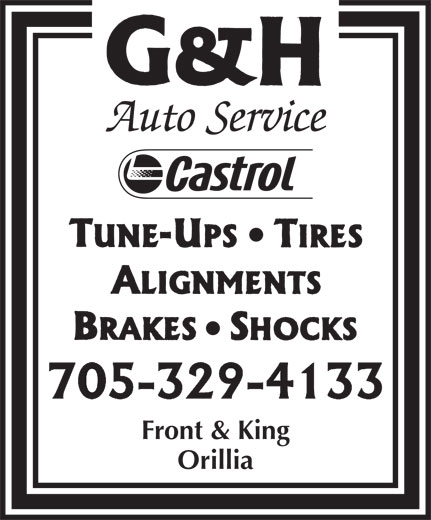 G & H Auto (705-329-4133) - Display Ad - Orillia Front & King