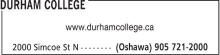 Durham College (905-438-1041) - Annonce illustrée======= - www.durhamcollege.ca  www.durhamcollege.ca  www.durhamcollege.ca  www.durhamcollege.ca  www.durhamcollege.ca  www.durhamcollege.ca