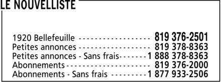 Ads Le Nouvelliste - Petites annonces