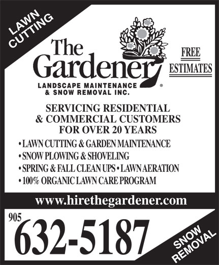 The gardener burlington canpages for The gardener burlington