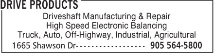 Drive Products (905-564-5800) - Annonce illustrée======= - Driveshaft Manufacturing & Repair High Speed Electronic Balancing Truck, Auto, Off-Highway, Industrial, Agricultural  Driveshaft Manufacturing & Repair High Speed Electronic Balancing Truck, Auto, Off-Highway, Industrial, Agricultural  Driveshaft Manufacturing & Repair High Speed Electronic Balancing Truck, Auto, Off-Highway, Industrial, Agricultural  Driveshaft Manufacturing & Repair High Speed Electronic Balancing Truck, Auto, Off-Highway, Industrial, Agricultural  Driveshaft Manufacturing & Repair High Speed Electronic Balancing Truck, Auto, Off-Highway, Industrial, Agricultural