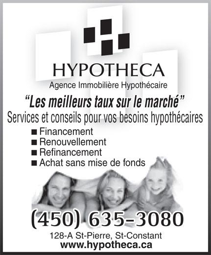 Hypotheca (450-635-3080) - Annonce illustrée======= -