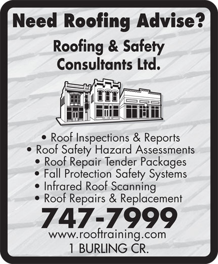 Roofing and Safety Consultants Ltd (709-747-7999) - Annonce illustrée======= -