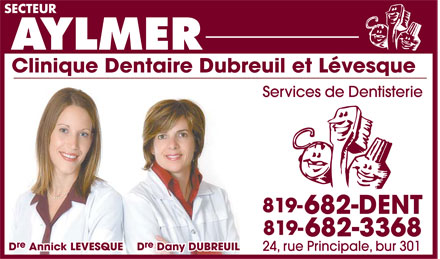 Dre Dany Dubreuil - Dre Annick Levesque (819-682-3368) - Display Ad -