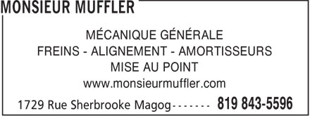 Ads Monsieur Muffler