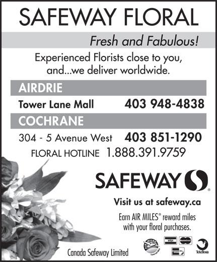 Safeway (1-888-391-9759) - Annonce illustrée======= -