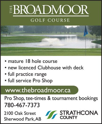 Broadmoor Public Golf Course (780-467-7373) - Annonce illustrée======= -