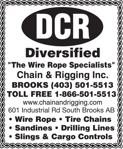Diversified Chain & Rigging Inc (403-501-5513) - Annonce illustrée======= -