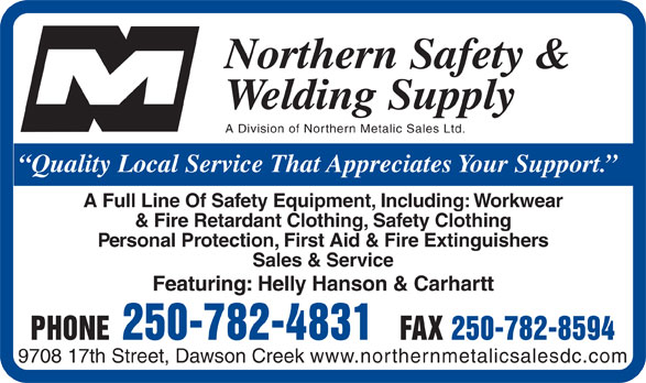 Northern Safety & Welding Supply - 9708 17 St, Dawson Creek, BC