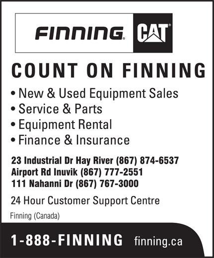 Finning (Canada) (867-874-6537) - Annonce illustrée======= -