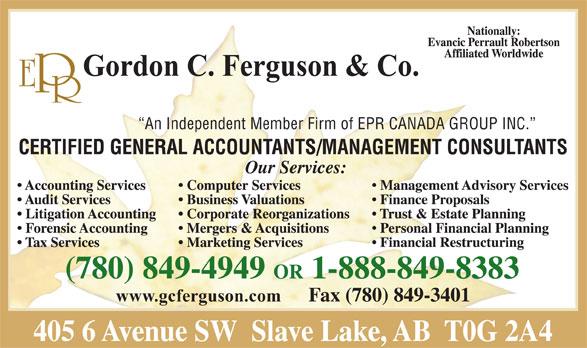 EPR Gordon C Ferguson & Co. (780-849-4949) - Display Ad -