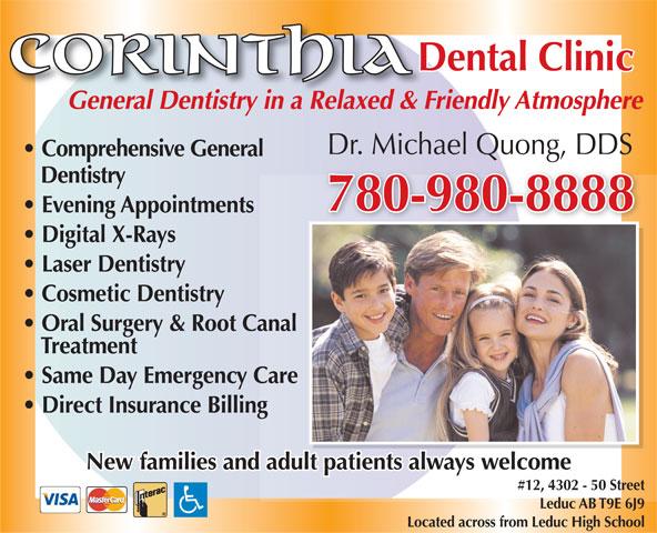 Corinthia Dental Clinic (780-980-8888) - Annonce illustrée======= -