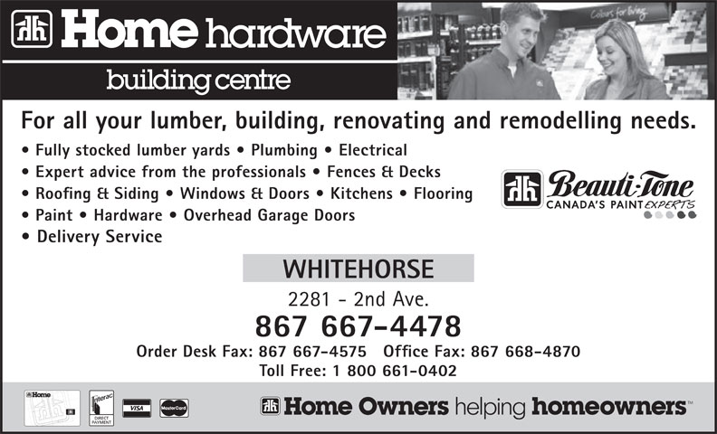 Home Hardware Building Centre (867-667-4478) - Annonce illustrée======= -