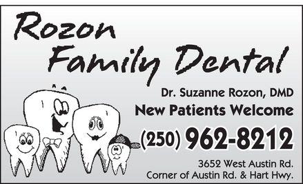 Rozon Suzanne Dr (250-962-8212) - Annonce illustrée======= - (250) 962-8212