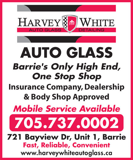 Ads Harvey White Auto Glass & Detailing
