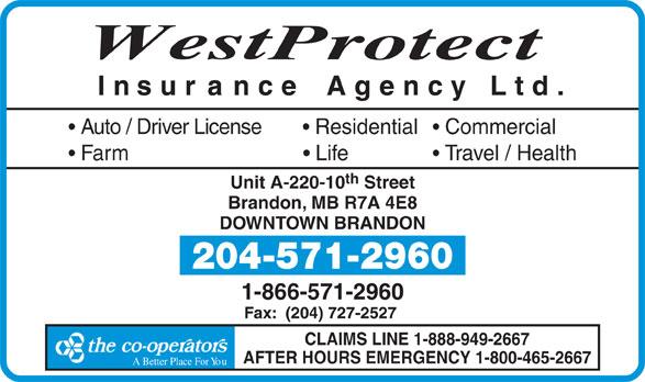 Westprotect Insurance Agency Ltd (204-571-2960) - Annonce illustrée======= -