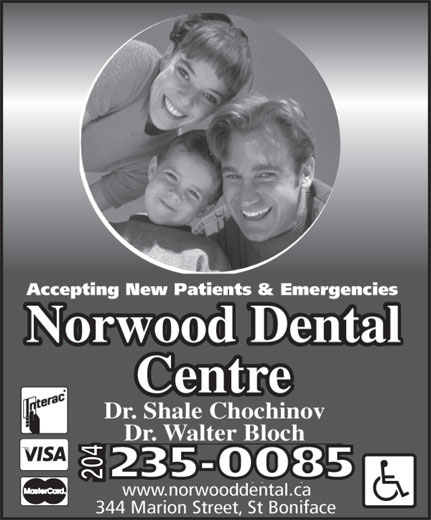 Norwood Dental Centre (204-235-0085) - Annonce illustrée======= -