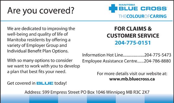 Blue Cross (204-775-0151) - Display Ad -