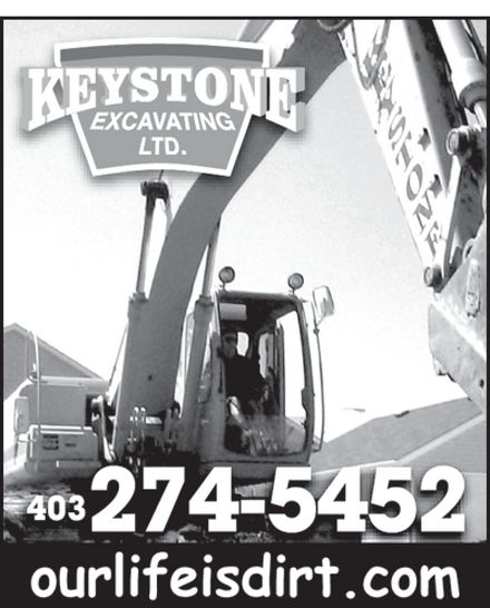 Keystone Excavating Ltd (403-274-5452) - Annonce illustrée======= -