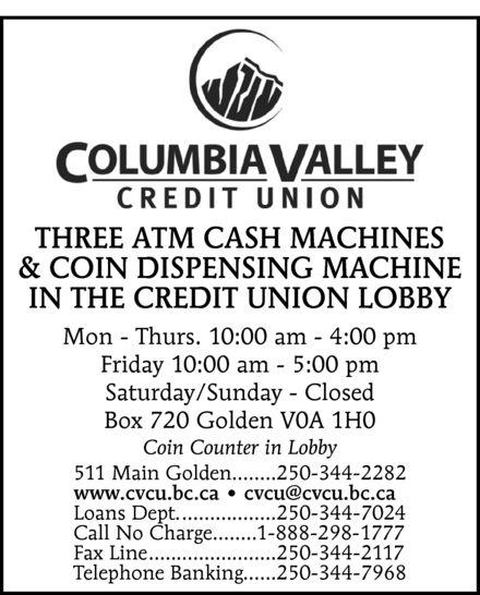 Columbia Valley Credit Union (250-344-2282) - Display Ad -