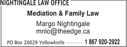 Nightingale Law Office (867-920-2922) - Display Ad -