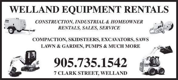 Ads Welland Equipment Rentals Ltd