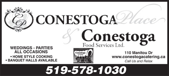 Conestoga Foods (519-578-1030) - Display Ad -
