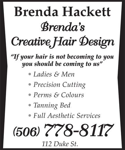 Brenda's Creative Hair Design (506-778-8117) - Annonce illustrée======= -