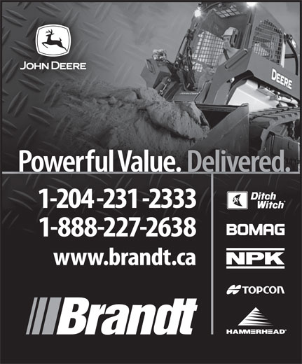 Brandt Tractor Ltd (204-231-2333) - Display Ad -
