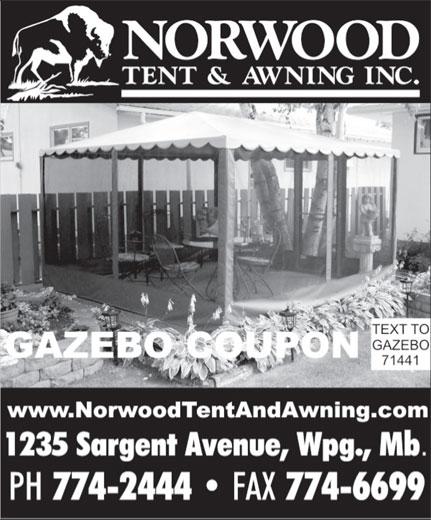 Norwood Tent Amp Awning Inc Winnipeg Mb 1235 Sargent