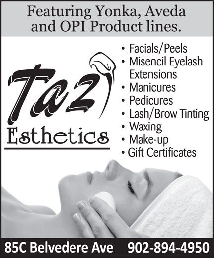 Taz Esthetics (902-894-4950) - Display Ad -