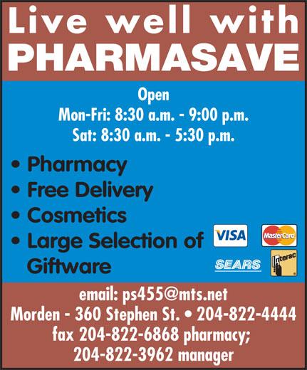 Pharmasave (204-822-4444) - Annonce illustrée======= -