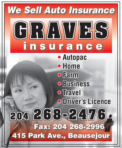 Graves Insurance (204-268-2476) - Annonce illustrée======= -