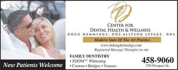 Dr Doug Demmings (506-458-9060) - Annonce illustrée======= -