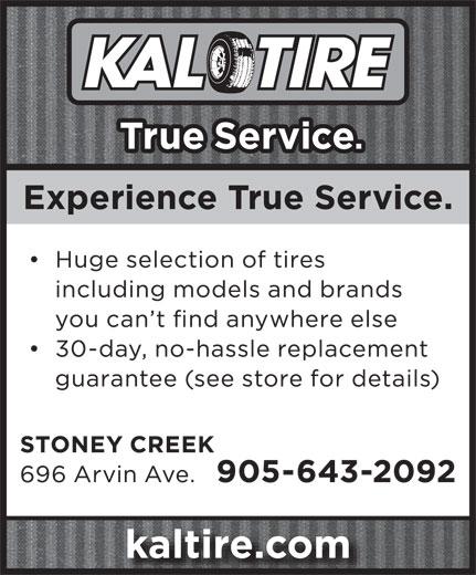 Kal Tire (905-643-2092) - Display Ad -