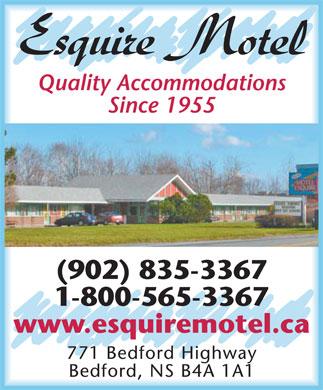 Esquire Motel (902-835-3367) - Display Ad -