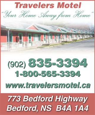 Travelers Motel (902-835-3394) - Annonce illustrée======= -