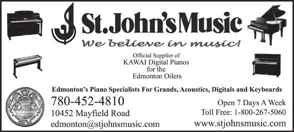 St John's Music (780-452-4810) - Display Ad -