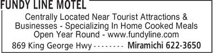 Fundy Line Motel (506-622-3650) - Annonce illustrée======= -